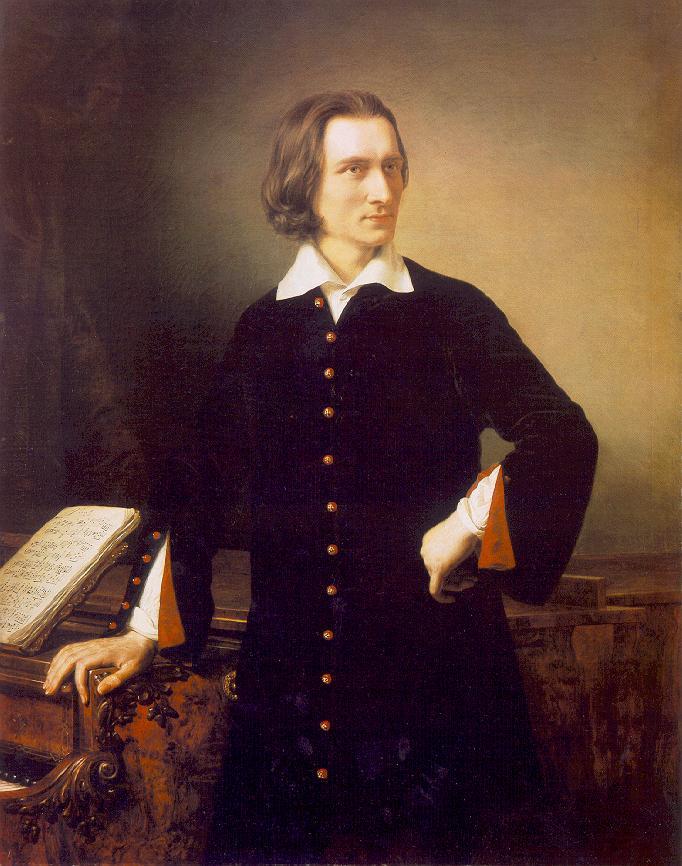 Franz Liszt portrait by Miklós Barabás