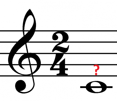 How many beats is a whole note in 2/4 worth ...