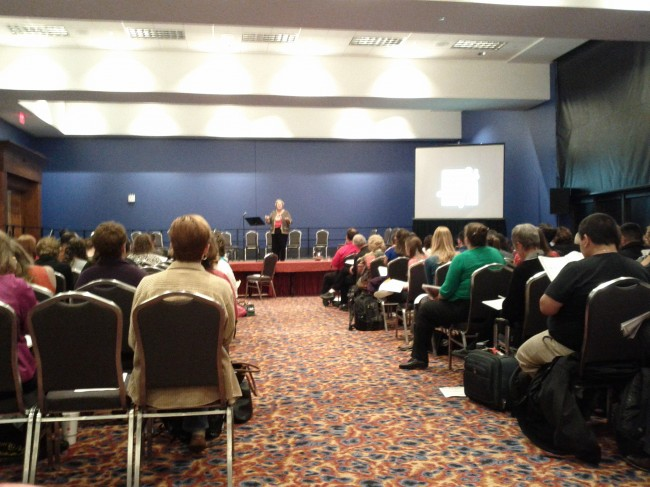 "Jan Juneau presenting ""A Multi-Sensory Approach to Music Reading"" at TMEA 2013"