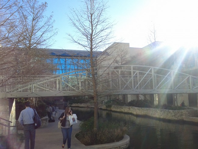 Riverwalk by the Henry B. Gonzales Convention Center in San Antonio, Texas (1)