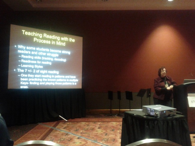 "Charlene Dell presenting ""Building Stronger Sight Readers"" at TMEA 2013"